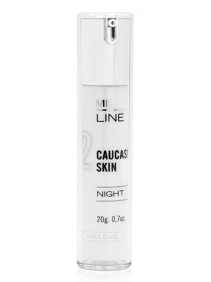 02 Me Line CAUCASIAN SKIN NIGHT – Emulsja depigmentująca i przeciwstarzeniowa na noc